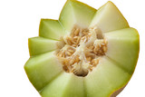 Half melon in zigzag with seeds poster