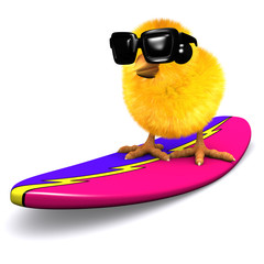 3d Chick on a surfboard