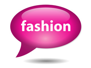 FASHION Speech Bubble Icon (Beauty Lifestyle Clothes Vector)
