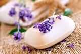 Fototapety lavendel seife