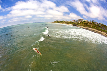 Wide Angle San Clemente Surfing