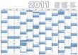 Wandkalender mit gesetzlichen Feiertagen in Deutschland