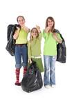 Enfants responsables pour le recyclage des ordures poster