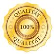 100% Qualität - Gold button
