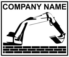Schild Bauunternehmen