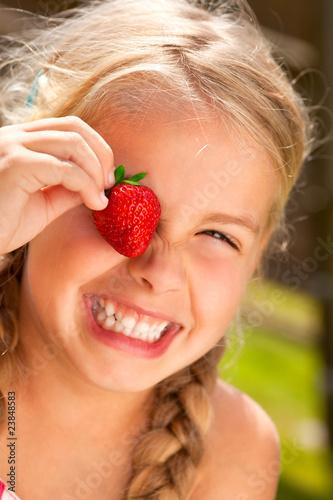 Leinwanddruck Bild strawberry