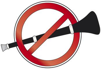 No Vuvuzela Verbotsschild neutral