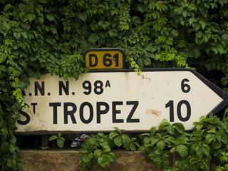 Panneau Routier Saint-Tropez