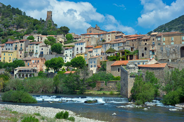 The village of Roquebrun in the Languedoc