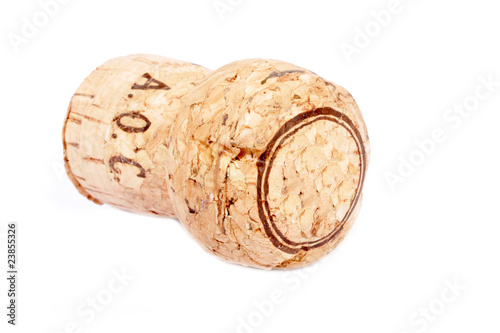 Sparkling Wine Cork Isolated on White