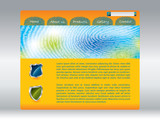 Fingerprinted web template