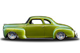 Green Plymouth Deluxe Coupe Isolated