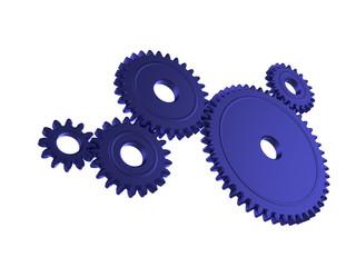 Blue 3d gears
