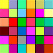 Retro vivid seamless square background
