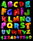 Fototapety full alphabet with numerals