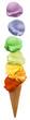 ice cream regenbogen schichten