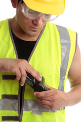 Builder with measuring device