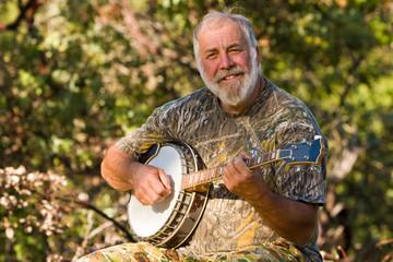 Happy Banjo Player