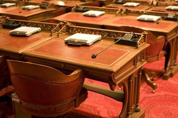 Desks in Capitol Chamber