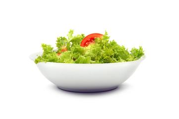 Frischer Salat in Schüssel