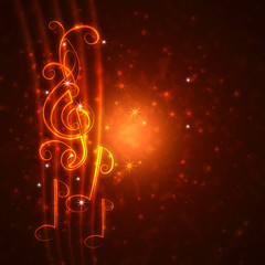 burning musical symbols