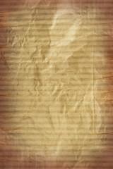 texture of cardboard crumpled brown paper