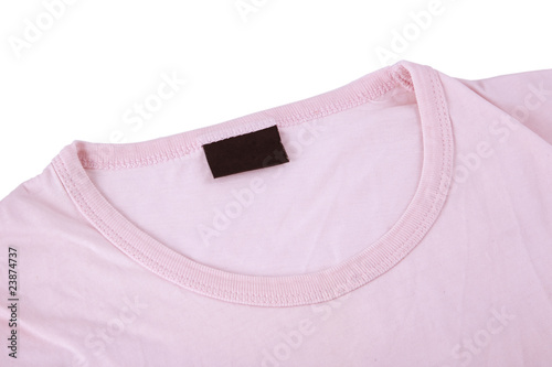 pink t-shirt and blank tag