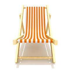 3d colorful wooden deck chair with stripe pattern fabric