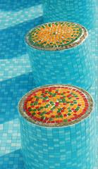 piscine en mosaïque