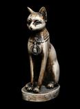 Bastet Egyptian cat goddess statue poster
