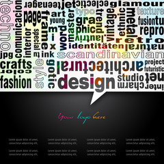 Typo-design background