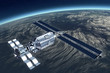 Telecommunication Satellite flying with mirror solar panels