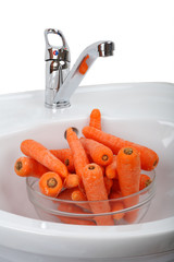 Washed carrot