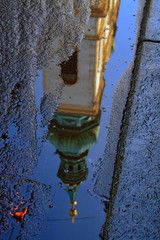A reflection of a Vienna church