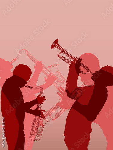 muzyk jazzowy mosiądz