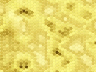 Honeycomb background: gold