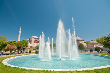 Hagia Sofia and fountain