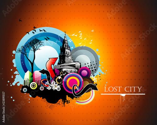 urban abstract vector illustration