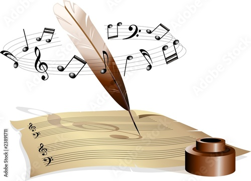 Musica Foglio con Pentagramma-Music and Music Sheet