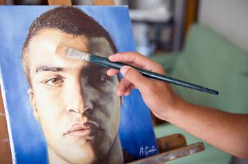 dipingendo se stesso