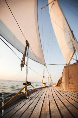 Leinwanddruck Bild Baltic Sea on Sailing