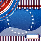 Stars And Stripes - Fourth of July background. Scrapbook page. poster
