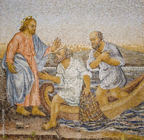 Rome - mosaic - miracle fishing
