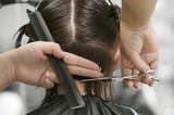 Woman at hair saloon poster