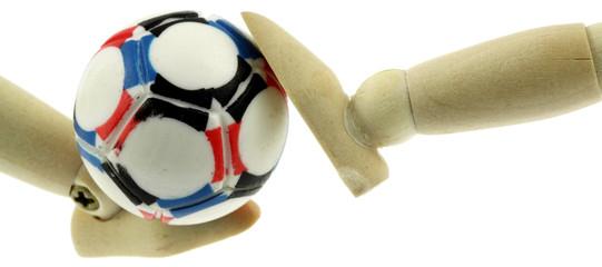 football, fond blanc