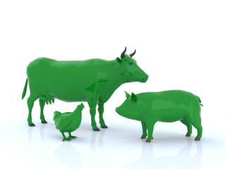 animali fattoria verdi