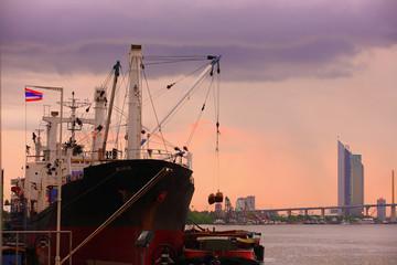 Container ship  Thailand..