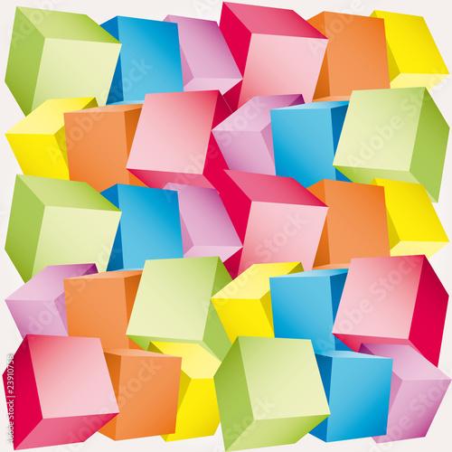 Multicolored dot background vector point illustration © alvaroc
