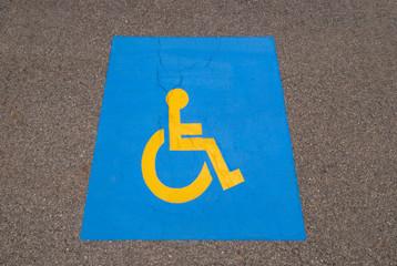 Handicap parking symbol