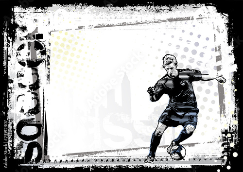 dirty soccer background 5 horizontal